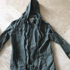 A green jacket